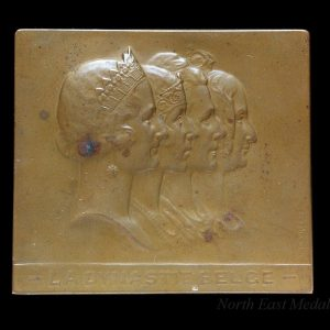 Table Medal depicting the Belgian Queens 1832- c1935
