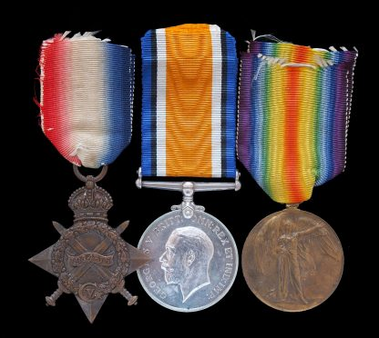 1914-15 Star Medal Trio King's Royal Rifle Corps DOW Hooge Liquid Fire Attack
