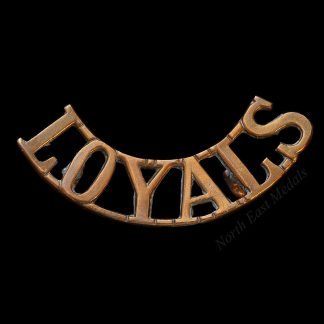 Loyal North Lancashire Regiment Shoulder Title Badge 'LOYALS'