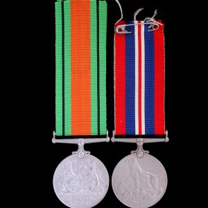 WW2 Campaign Medal Pair 1939-45 War Medal and Defence Medal