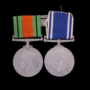 GVI Police Long Service Good Conduct Medal and Defence Medal (Lancashire)