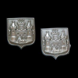 Pair of 2nd Volunteer Battalion East Surrey Regiment White Metal Collar Badges
