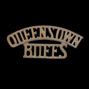 Queen's Own Buffs Regiment Shoulder Title Badge