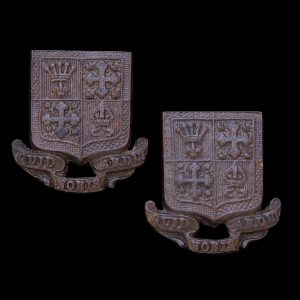 Pair of 13th Battalion London Regiment (Kensington) Officers OSD Collar Badges