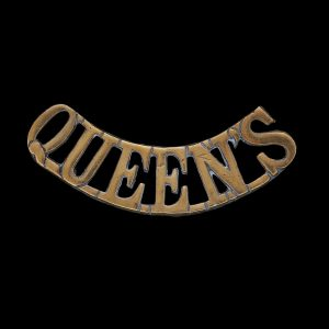 Queen's Royal West Surrey Regiment Shoulder Title Badge
