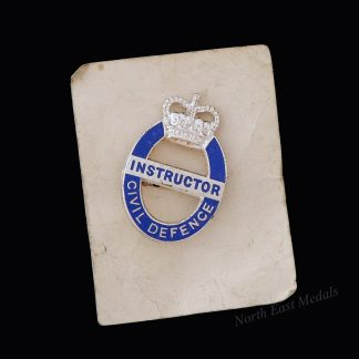 Cold War Civil Defence Instructor Lapel Badge