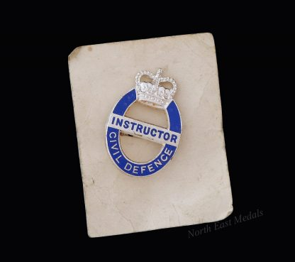 Cold War Civil Defence Instructor Lapel Badge