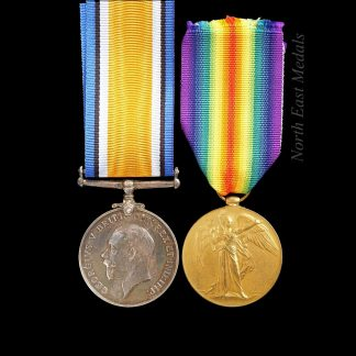 British War and Victory Medal Pair, Private Shores, Army Service Corps. Died of Wounds 1917