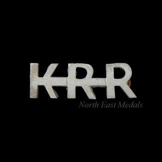 King's Royal Rifle Corps Shoulder Title Badge