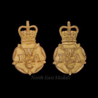 Pair of WRAC Women's Royal Army Corps Officer's Collar Badges