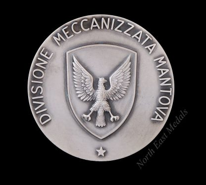 Large Italian Table Medal Divisione Meccanizzata Mantova