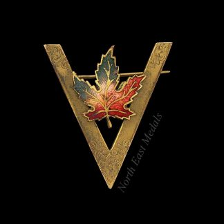 Canadian WW1 Victory 'V' Sweetheart Brooch Badge