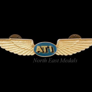 ATI Air Transport International Flight Attendant Wings Badge