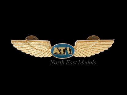 ATI Air Transport International Flight Attendant Wings Badge