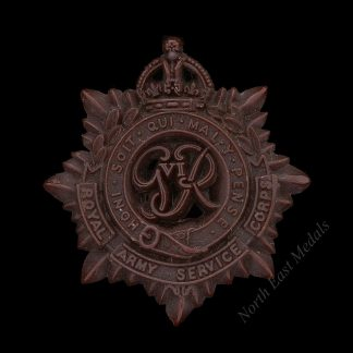 WW2 Plastic Economy Royal Army Service Corps Cap Badge