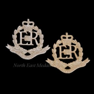 Pair of EIIR Royal Military Police Staybrite Collar Badges