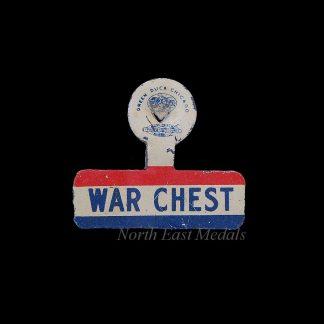USA WW2 'War Chest' Fundraising Badge/Pin