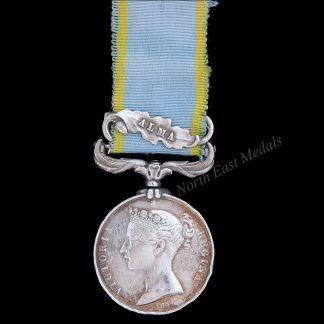 1854-56 Crimea Medal, Clasp Alma. Wm. Manary 44th Regt