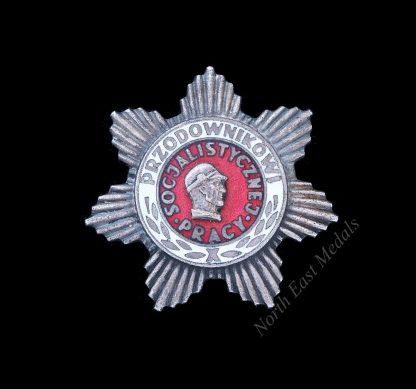 Polish Socialist Lead Worker's Badge/Przodownikowi Pracy Socjalistycznei