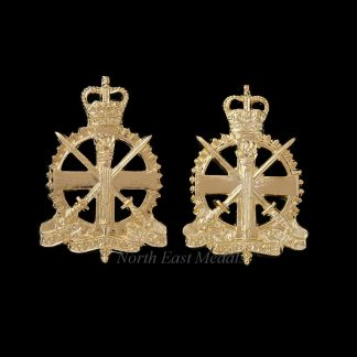 Pair of Army Apprentices School Staybrite Collar Badges