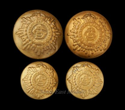 Four WW1 Army Service Corps Uniform Buttons