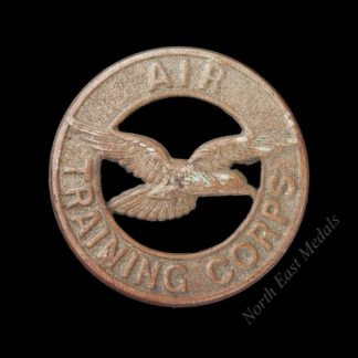 Air Training Corps Cap Badge. White Metal Version