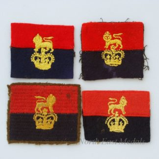 4 War Office Controlled Units Formation Sign Arm Badges