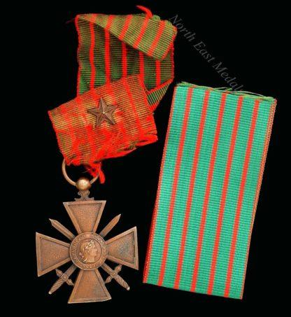 French Great War Croix de Guerre 1914-18 Reverse