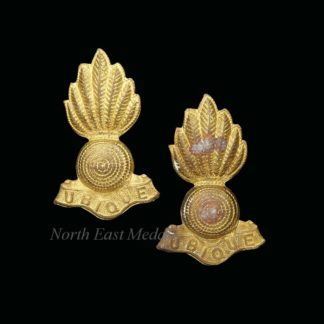Pair of Royal Artillery Other Ranks Collar Badges