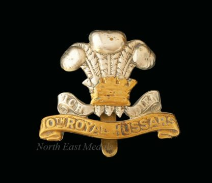 10th Royal Hussars Cap Badge (defective)