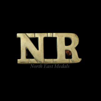 South African Northern Rifles Shoulder Title Badge 'NR' 1903-1907