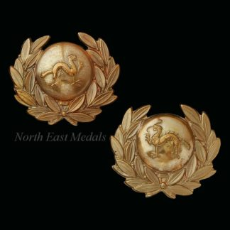 Pair of Border Regiment Militia Battalion Collar Badges
