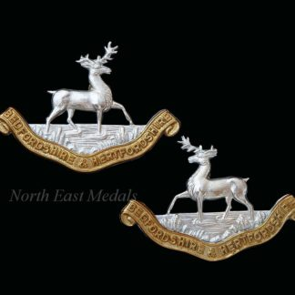 Bedfordshire and Hertfordshire Regiment Collar Badges