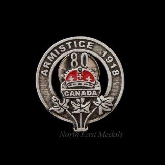 1998 Canadian 80 Year Armistice Commemoration Brooch
