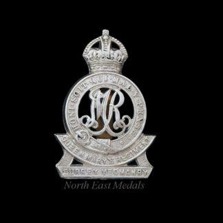 Surrey Yeomanry (Queen Mary's Regiment) Cap Badge. (Large Type)