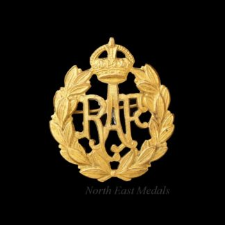 Royal Air Force RAF Cap Badge Gilt Brooch Conversion