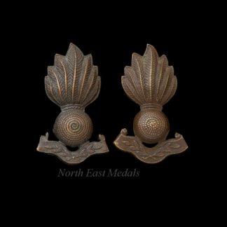 Two Territorial Type Royal Artillery Collar Badges