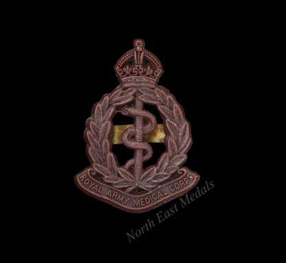WW2 Royal Army Medical Corps RAMC Plastic Cap Badge