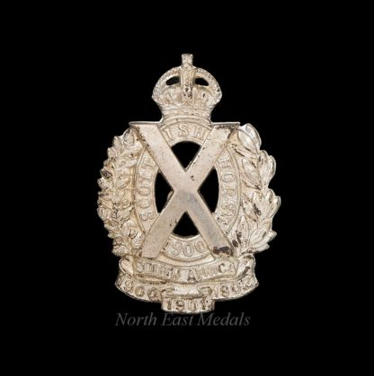 Scottish Horse Yeomanry Cap Badge