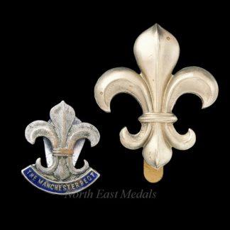 Manchester Regiment Cap Badge and Veteran's Lapel Badge
