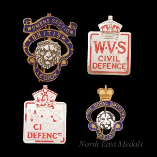 Women's Voluntary Service Lapel Badges + British Legion Badges
