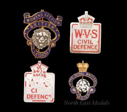 Women's Voluntary Service Lapel Badges + British Legion Badges