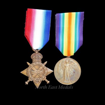 1914-15 Star and Victory Medal Wheeler Hilditch, Royal Field Artillery