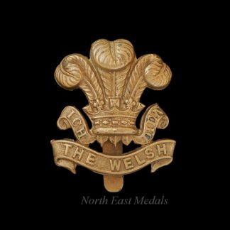 WW1 Welsh Regiment All Brass Economy Cap Badge