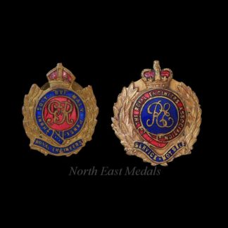 GVIR Royal Engineers Lapel Badges and RE Association Badge