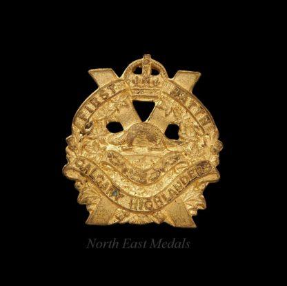 Canadian 1st Battalion Calgary Highlanders Collar Badge