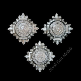 Three Chrome Epaulette Rank Stars/Pips