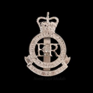Royal Military Academy Sandhurst cap badge, anodised aluminium staybrite