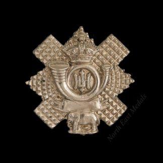 Highland Light Infantry Volunteer Battalion Victorian Collar Badge. Blank Scroll