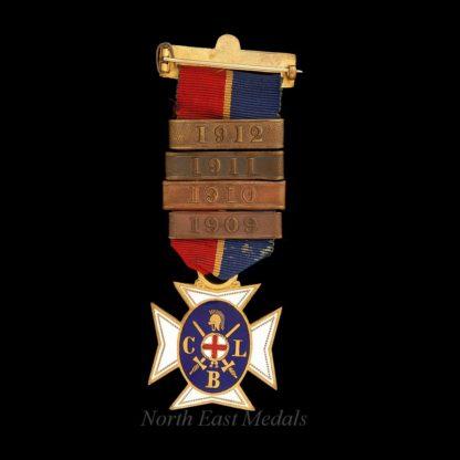 Church Lads Brigade Edwardian Medal 1909-1912 Bars